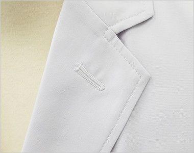 MZ-0025 ミズノ(mizuno) ドクターコート・シングル(男性用) フラワーホールの飾り刺繍