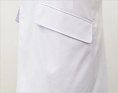 MZ-0025 ミズノ(mizuno) ドクターコート・シングル(男性用) ポケット付き