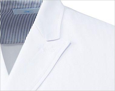 MZ-0026 ミズノ(mizuno) ドクターコート・ダブル(男性用) フラワーホールの飾り刺繍