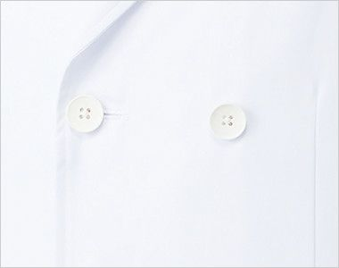 MZ-0026 ミズノ(mizuno) ドクターコート・ダブル(男性用) ダブルの前立て、ボタン
