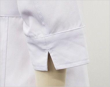 MZ-0057 ミズノ(mizuno) 七分袖 レディースドクターコート・シングル(女性用) スリット