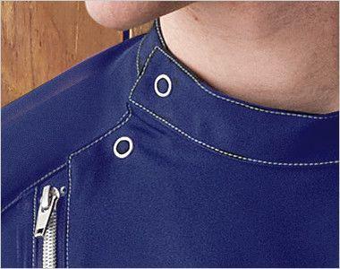 MZ-0066 ミズノ(mizuno) メンズケーシージャケット(男性用) 大きめに開くドットボタン仕様で着脱しやすい右の肩口