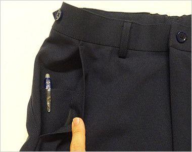 MZ-0088 ミズノ(mizuno) ストレッチパンツ(男性用)ストレートシルエット アジャスター仕様 股下マチ ポケット付き(右脇ポケットは中ポケット付き)