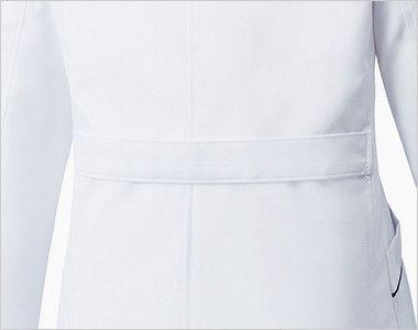 MZ-0107 ミズノ(mizuno) パイピング レディースドクターコート(女性用) 腰高効果のある背ベルト付き