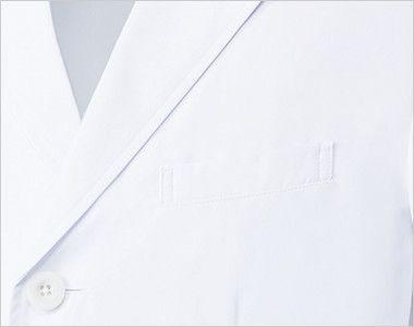 MZ-0108 ミズノ(mizuno) パイピング メンズドクターコート・シングル(男性用) ポケット