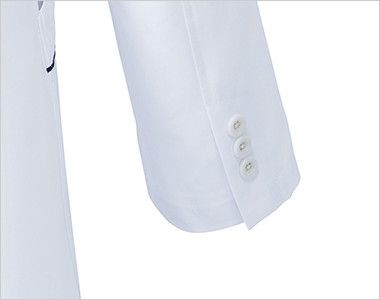 MZ-0108 ミズノ(mizuno) パイピング メンズドクターコート・シングル(男性用) 袖口は3つボタン
