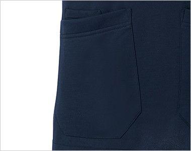[在庫限り/返品交換不可]MZ-0110 ミズノ(mizuno) ニットスクラブ(男女兼用) ポケットだけ中ポケットあり