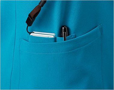 MZ-0150 ミズノ(mizuno) ジップ付きスクラブ(男女兼用) PHSポケット・ペン差しポケットで便利