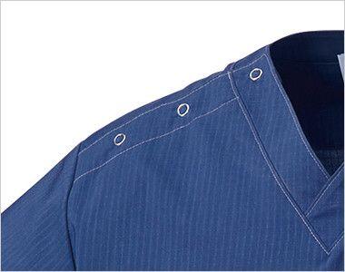 MZ-0157 ミズノ(mizuno) スクラブ(男女兼用) 着脱が便利なドットボタン