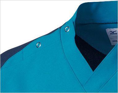 MZ-0164 ミズノ(mizuno) ストレッチジャケット(男性用) 大きめに開くドットボタン仕様で着脱しやすい