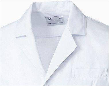 MZ-0176 ミズノ(mizuno) ドクターコート(男性用) 襟部分