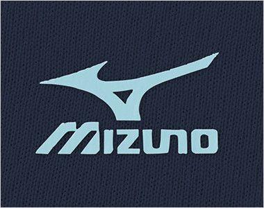 MZ-0199 ミズノ(mizuno) 入浴介助用ニットシャツ(男女兼用) サイドの配色と同色のミズノマークプリント付