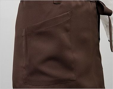 T-6231 チトセ(アルベ) ショートエプロン(男女兼用) ポケット付き