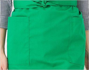 T-6878 チトセ(アルベ) ショートエプロン 腰巻(男女兼用) ポケット付き