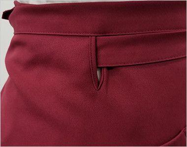 T-8088 チトセ(アルベ) プレミアムショートエプロン(男女兼用) ズレを防止する腰紐通し穴