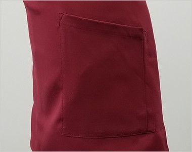 T-8088 チトセ(アルベ) プレミアムショートエプロン(男女兼用) ポケット付き