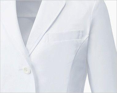 UN-0060 UNITE(ユナイト) 丸みのある襟元 ドクターコート・シングル(女性用) 小物が収納できるポケット