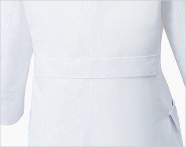 UN-0060 UNITE(ユナイト) 丸みのある襟元 ドクターコート・シングル(女性用) シルエットをきれいに魅せる背ベルト
