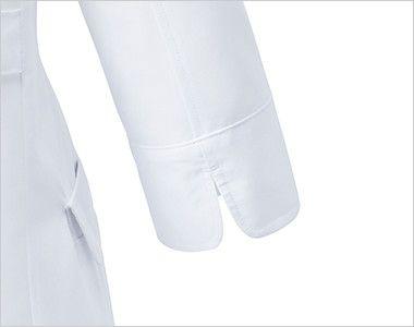 UN-0060 UNITE(ユナイト) 丸みのある襟元 ドクターコート・シングル(女性用) 袖まくりしやすいスリット
