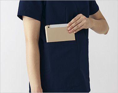 UN-0071 UNITE(ユナイト) スクラブ(男性用) 小型タブレット端末がすっぽり収まる大きなポケット