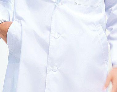 1530PO FOLK(フォーク) メンズ診察衣シングル(男性用) 箱ポケット