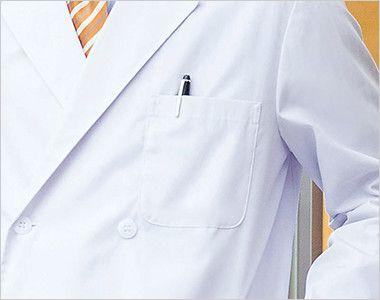 1531PO FOLK(フォーク) 診察衣 ドクターコート(男性用)  ペン差し付きポケット