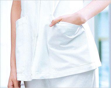 2005CR FOLK(フォーク) チュニック(女性用) ポケット付き(右腰に内側ペン差し布付き)