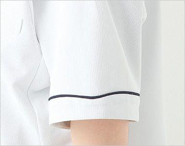 2013CR FOLK(フォーク) ナースチュニック(女性用) さりげなく飾る、襟元とお揃いのハートライン