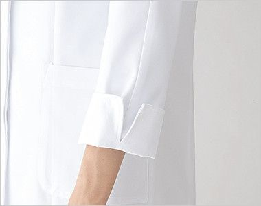 2520 FOLK(フォーク) 女性ハーフコート 長袖(女性用) スリットで折り返しに便利