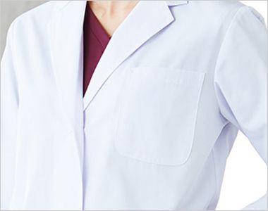 2530PO FOLK(フォーク) レディース診察衣シングル(女性用) ペン差し付きの胸ポケット