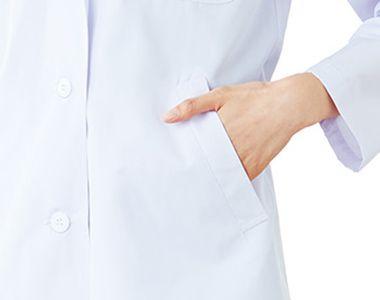 2530PO FOLK(フォーク) レディース診察衣シングル(女性用) 箱ポケット