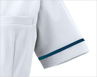 3016EW FOLK(フォーク) ナースワンピース(女性用) 襟とおそろいのラインが入った袖ぐり