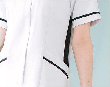 3017EW FOLK(フォーク) ナースワンピース(女性用) ほっそり見せるネイビーの配色