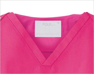 7000SC FOLK(フォーク) パントン スクラブ(男女兼用) 前傾しても胸元の開きが気になりません。
