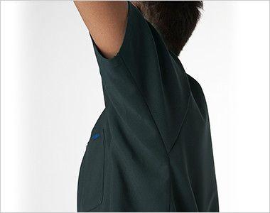 7013SC FOLK(フォーク) 国境なき医師団 スクラブ(男女兼用) 人間工学に基づいた腕を上げた状態の型取りにより、上半身を大きく動かしてもウェアの突っ張りが気になりません。