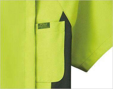 7014SC FOLK(フォーク) レディス ジップスクラブ(女性用) FOLKピスネーム付きポケット
