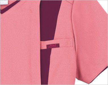 7023SC FOLK(フォーク) レディス ジップスクラブ(女性用) FOLKピスネーム付きポケット