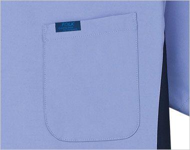 7025SC FOLK(フォーク) メンズ ジップスクラブ(男性用) FOLKピスネーム付きポケット