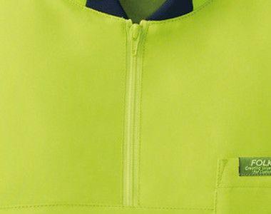 7037SC FOLK(フォーク) ニット付きプルオーバージャケット(男女兼用) 着脱しやすいジップタイプ