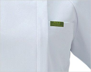 7039EW FOLK(フォーク) レディス ジップスクラブ(女性用) ポケット付き