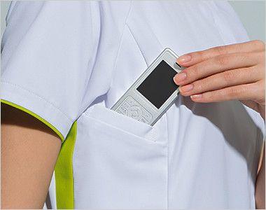 7039EW FOLK(フォーク) レディス ジップスクラブ(女性用) PHSの出し入れがしやすいサイズと位置に設けられたポケット