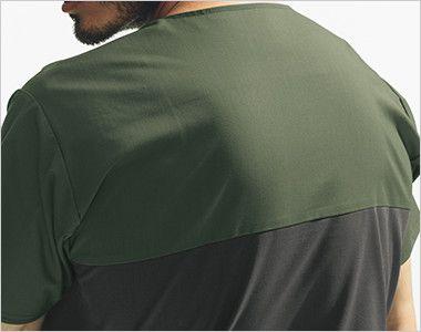 7040SC FOLK(フォーク)×Dickies スクラブ(男女兼用) 吸汗速乾性がある、動きやすいストレッチ素材。洗いざらしのような独特の風合いも魅力です。