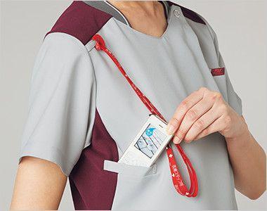 7043SC FOLK(フォーク) ZIP SCRUB レディスジップスクラブ(女性用) 機能的なPHSポケットと肩ループ