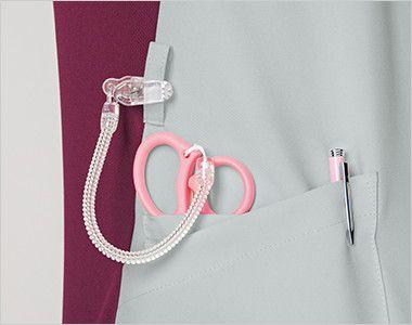 7043SC FOLK(フォーク) ZIP SCRUB レディスジップスクラブ(女性用) 便利なループと小分けポケット