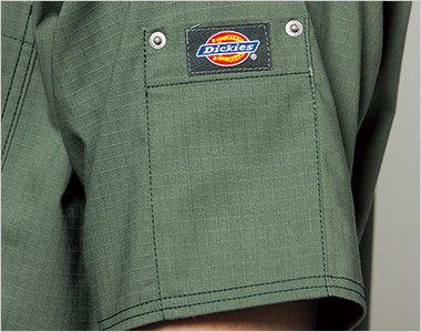 7045SC FOLK(フォーク)×Dickies スクラブ(男女兼用) ディッキーズロゴ入りリベットポケット