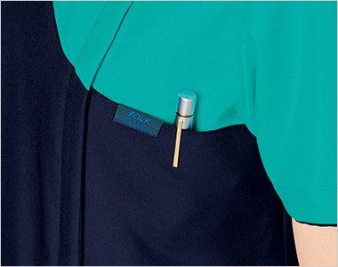 7048SC FOLK(フォーク) レディス ジップスクラブ(女性用) ポケット付き