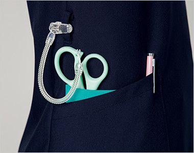 7048SC FOLK(フォーク) レディス ジップスクラブ(女性用) 便利なループと小分けポケット
