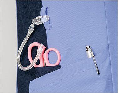 7050SC FOLK(フォーク) レディス ジップスクラブ(女性用) 便利なループと小分けポケット
