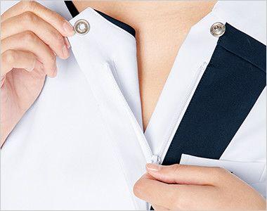 7052SC FOLK(フォーク) レディス ジップスクラブ(女性用) 着脱しやすいジップタイプ。メイクなどが付きにくいのも特徴です。