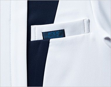 7052SC FOLK(フォーク) レディス ジップスクラブ(女性用) FOLKピスネーム付きポケット